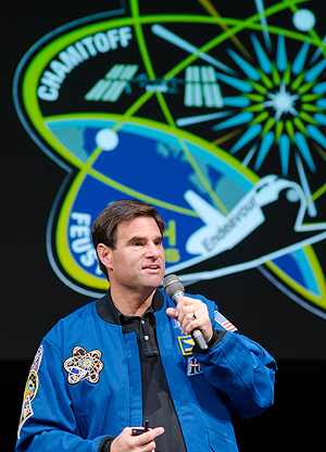 """Dr Greg Chamitoff: """"Aboard the space station, you feel like you can reach out and touch the future."""""""