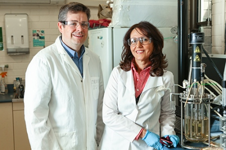 Dr John Kavanagh and Associate Professor Fariba Dehghani worked with industry to develop a cost-effective way of producing and extracting vitamin MK-7