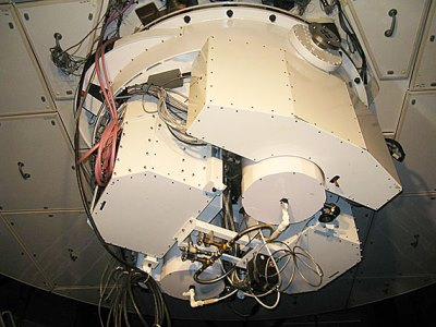 Mounted on the back of the Clay telescope is Megacam, a giant digital camera whose construction was led by CfA astrophysicist Brian McLeod. Megacam will be used to help identify a Kuiper Belt object that scientists will then explore with the help of NASA's spacecraft New Horizons.