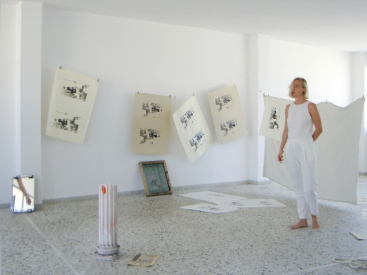 Augusta Atla, artsist from Denmark who lives in Athens.