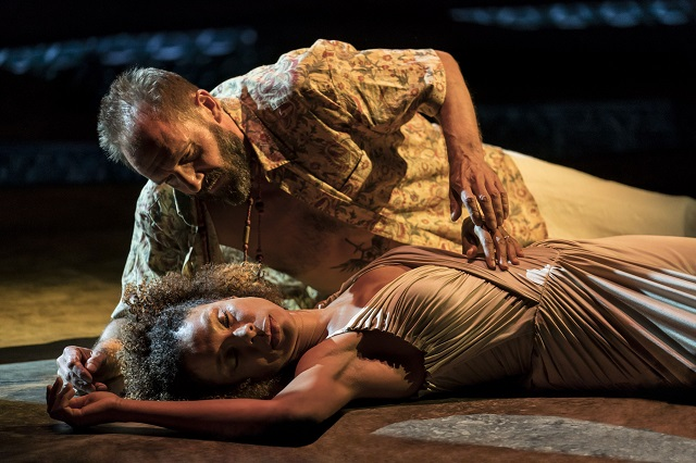 Ralph Fiennes, Sophie Okonedo in Antony & Cleopatra. Image by Johan Persson