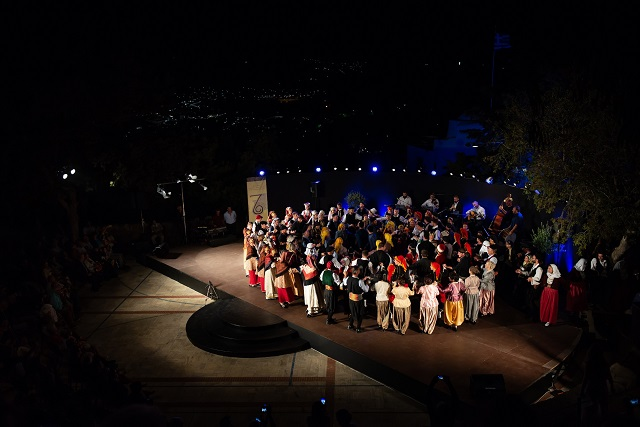 Closing Ceremony of 7th Festival of Traditional Dance & Music of Patmos.Photography:©Phivos Pentes
