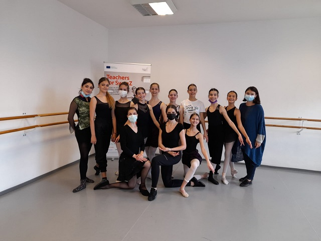 The group of educators and dancers of Teachers of SwanZ- Floria Capsali Choreography High School in Bucharest